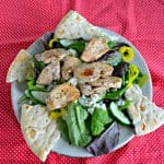 Looking for a filling entree salad? Check out this Greek Chicken Salad with Creamy Dressing