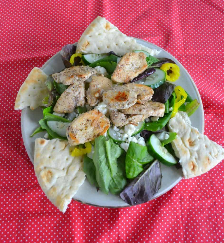 I love the flavors in this Greek Chicken Salad with homemade dressing.