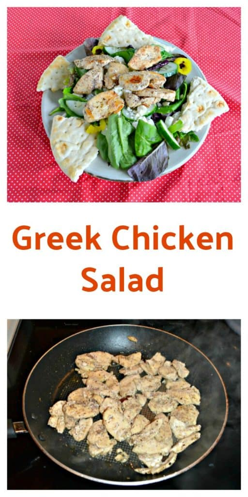Grab a fork and dig into this filling and delicious Greek Chicken Salad with Creamy Dressing.