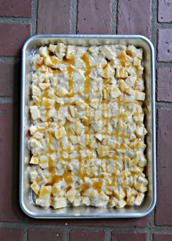 Grab your favorite sheet pan and make this easy Caramel Apple Sheet Cake!