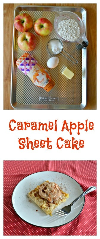 Everything you need to make Caramel Apple Sheet Cake