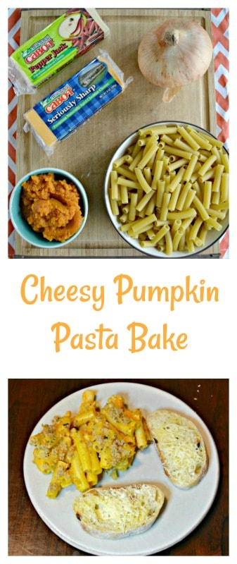 Everything you need to make Cheesy Pumpkin Pasta Bake