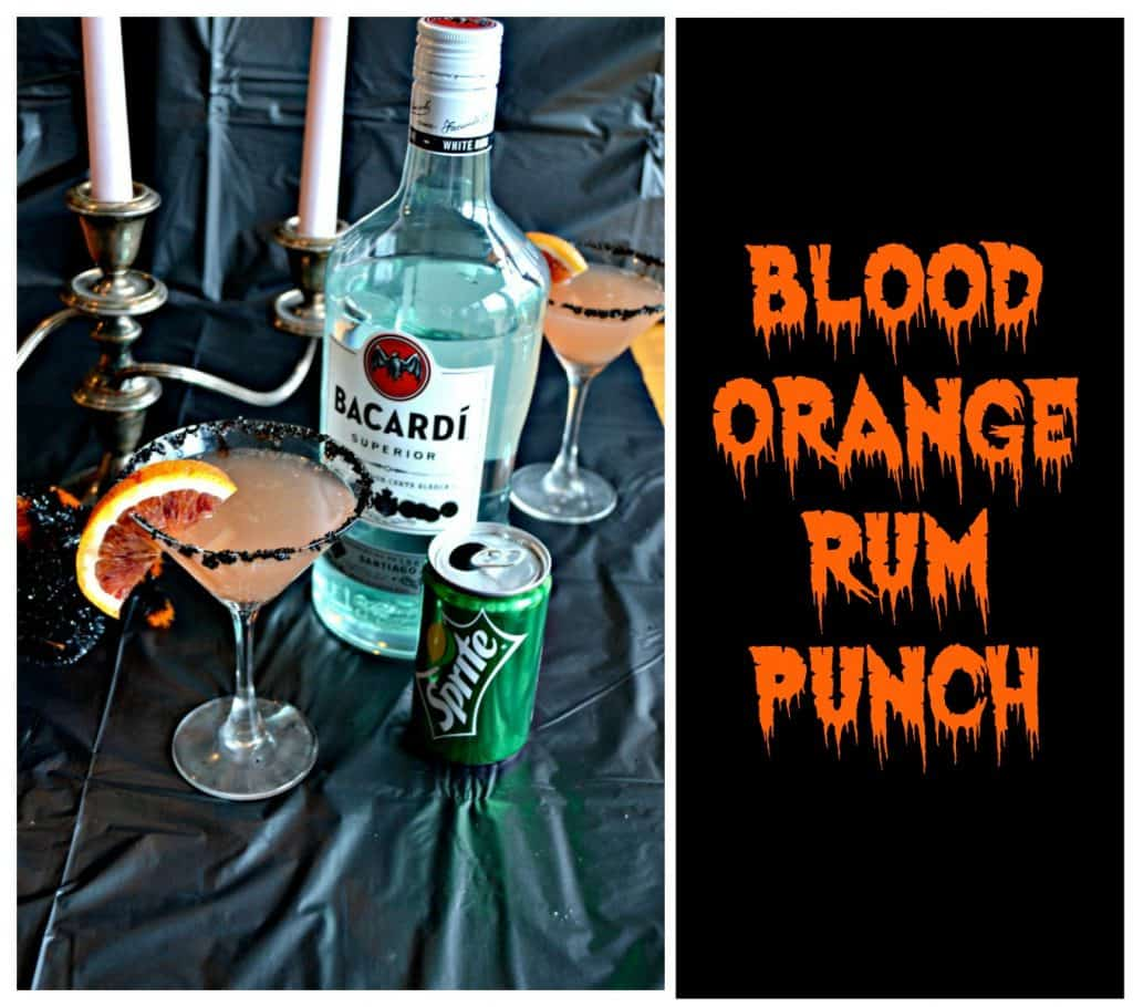 It's easy to make this festive Blood Orange Rum Punch for Halloween