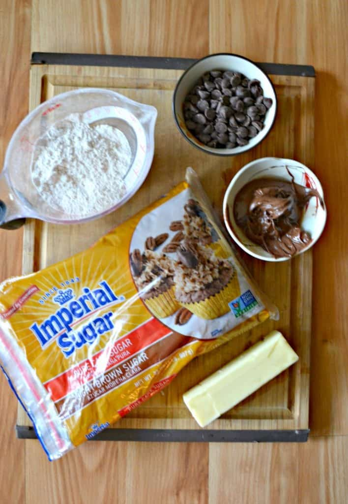 Everything you need to make Chocolate Hazelnut Cookies