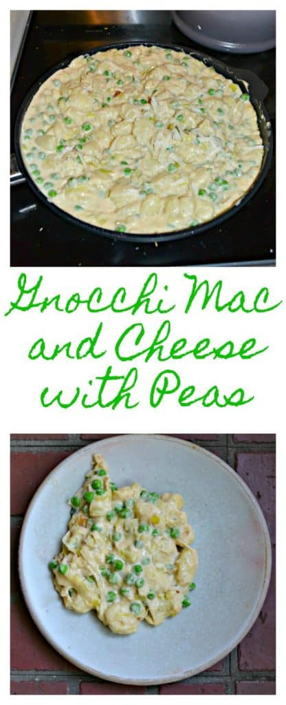 It's easy to make a gooey and delicious Gnocchi Mac and Cheese with Peas