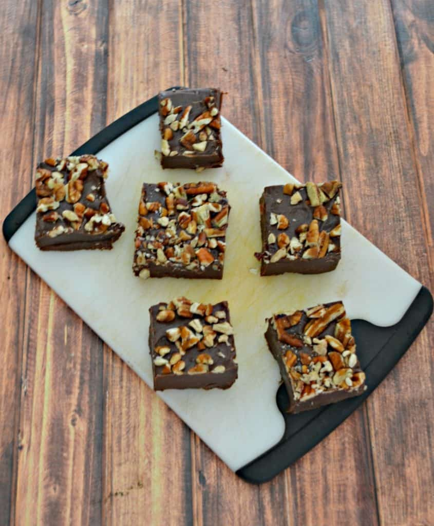 Bite into this Maple Fudge with nuts!