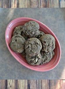 Triple Chocolate Cookies #Choctoberfest