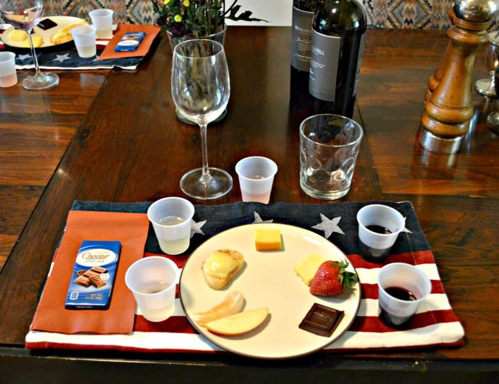 A fun idea is to pair a small bite (food item) with each wine during a wine tasting.