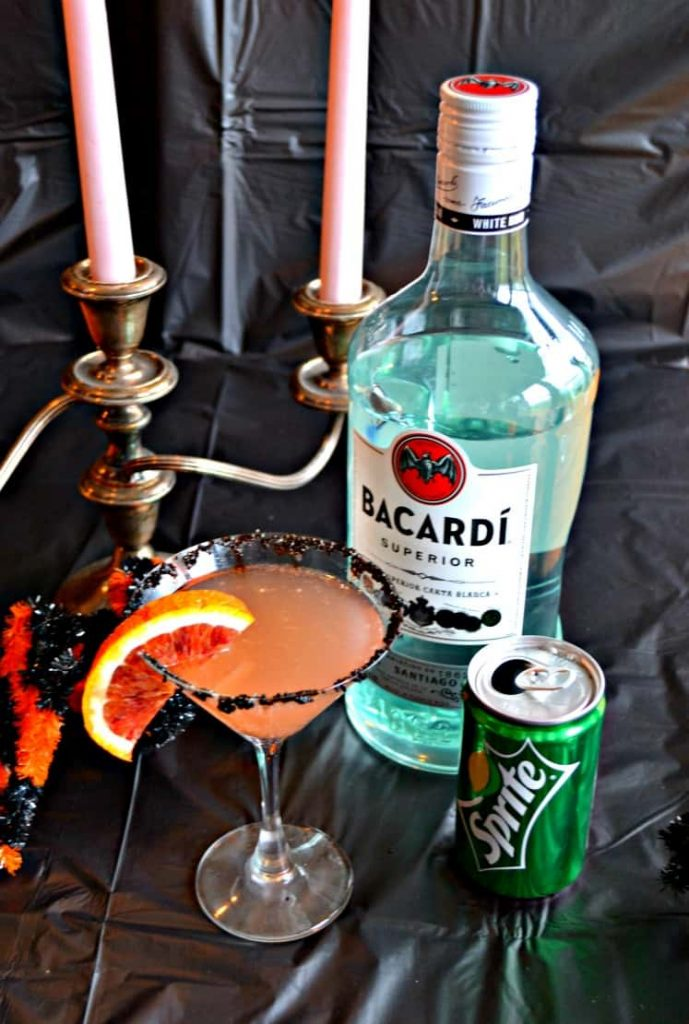 Getting ready for Halloween? Stock up on Bacardi and Sprite and make this delicious Blood Orange Rum Punch!