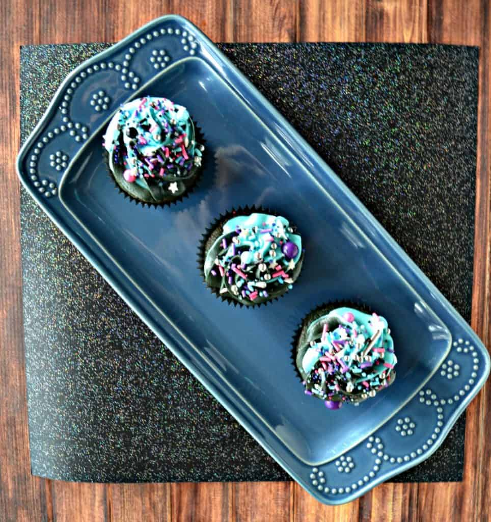 You'll love these fun Blue Velvet Galaxy Cupcakes