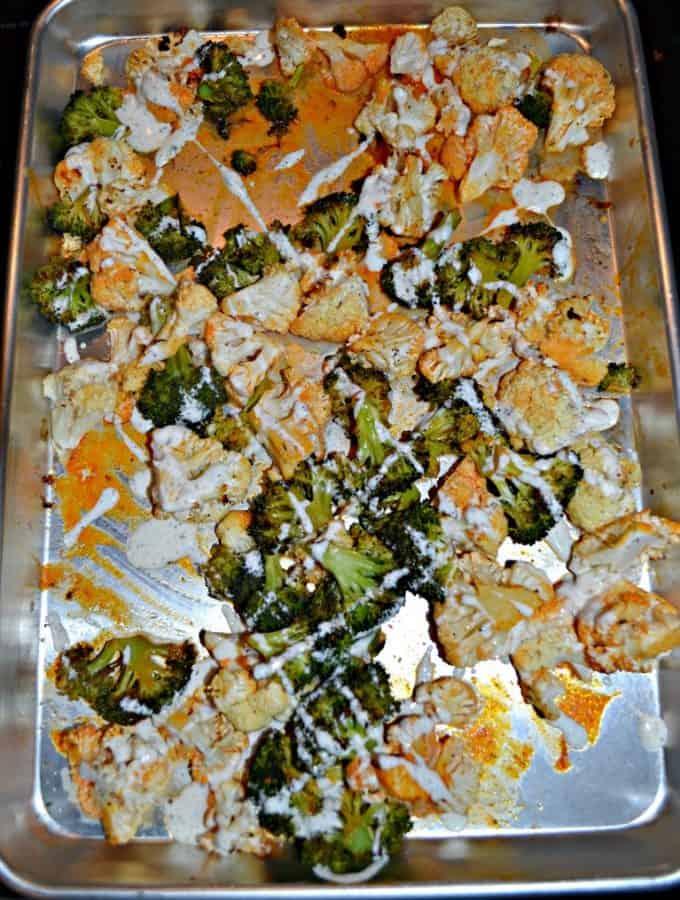 Buffalo Broccoli and Cauliflower is a tasty holiday side dish