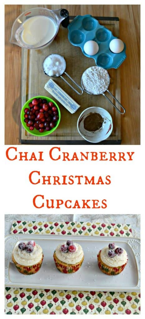 These gorgeous Chai Cranberry Christmas Cupcakes don't take too much effort to make!