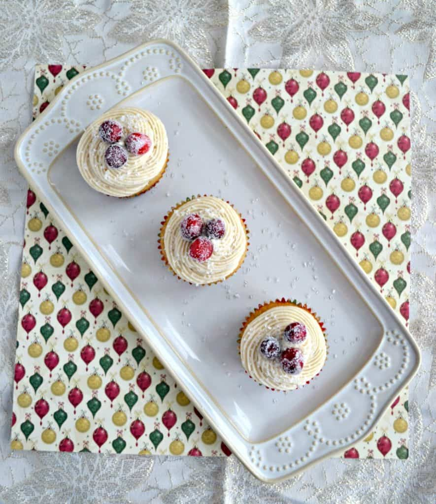 Looking for the ultimate holiday dessert? Give these Chai Cranberry Christmas Cupcakes a try!