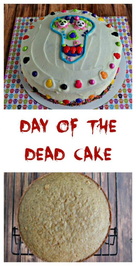 It's super easy to make this funa nd festive Day of the Dead Cake