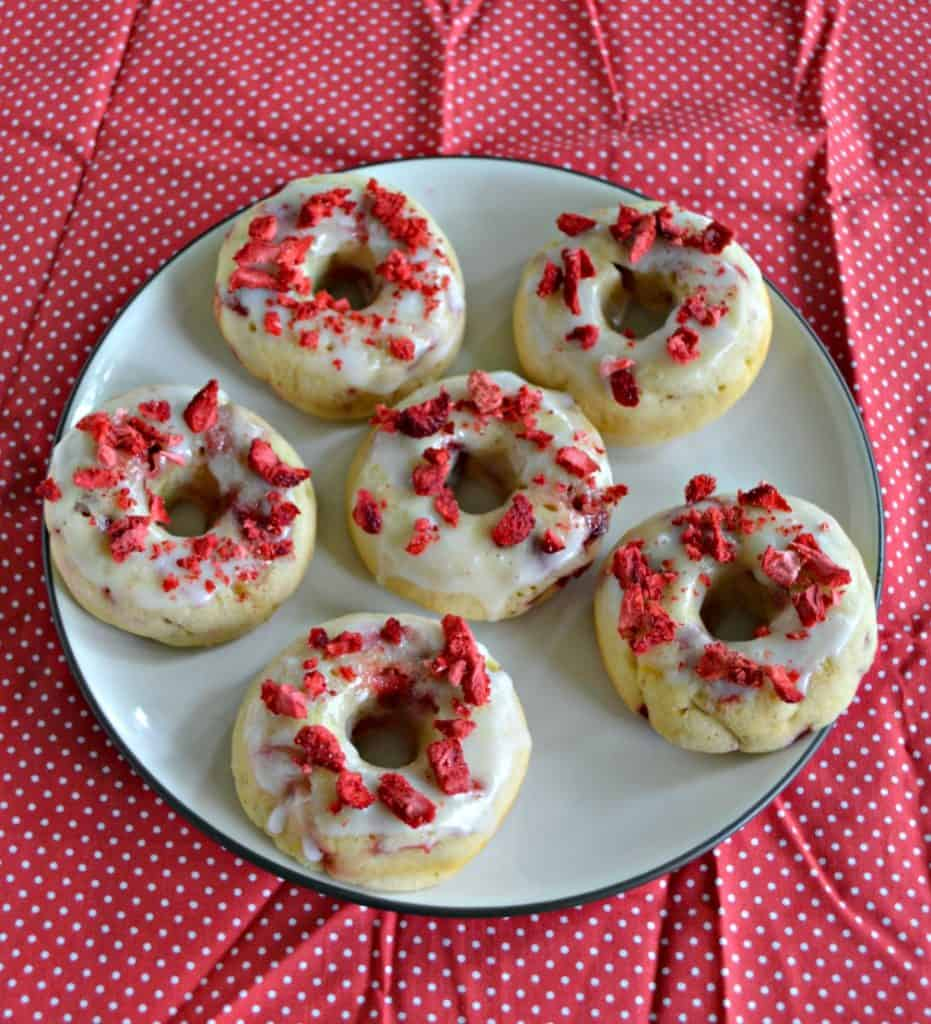 These Strawberry Lemon Baked Donuts are bursting with flavor