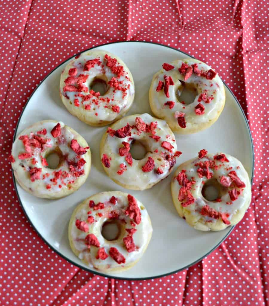 Don't go to the donut shop, make your own Strawberry Lemon Baked Donuts