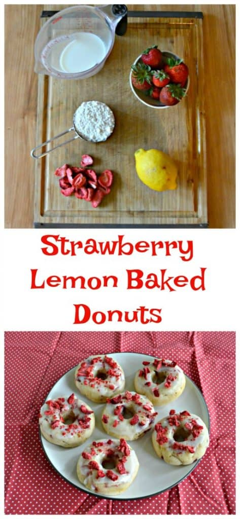 Everything you need to make Strawberry Lemon Baked Donuts