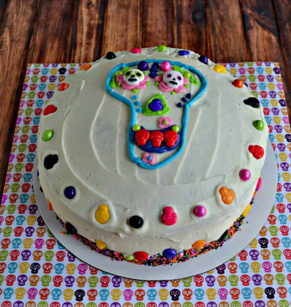 The day after Halloween shoudl be celebrated with this Day of the Dead Cake