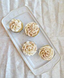 Rum Spiked Eggnog Cupcakes #ChristmasSweetsWeek