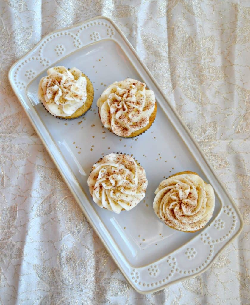 Rum Spike Eggnog Cupcakes are high on my holiday baking list!