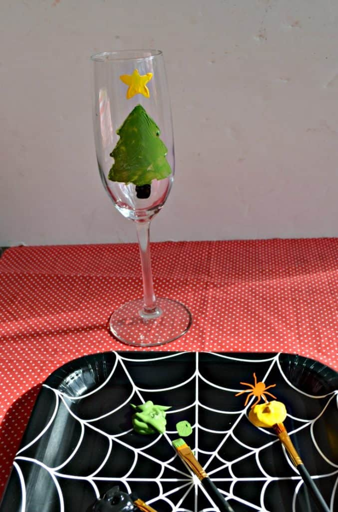 It's easy to make Hand Painted Champagne Glasses
