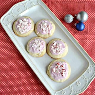 Don't leave these Peppermint Meltaway Cookies out for Santa! Keep them at home for yourself!