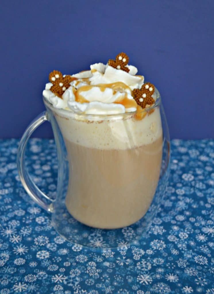 After just one sip this Gingerbread Spice Caramel Latte will be your new favorite holiday drink!