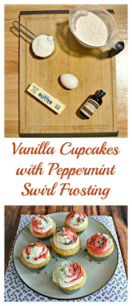 Everything you need to make Vanilla Cupcakes with Peppermint Swirl Frosting