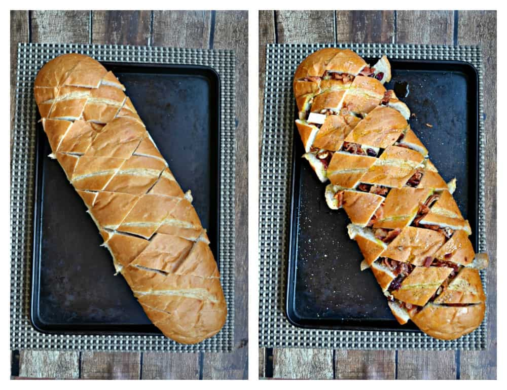 It's super easy to make Baked Brie, Bacon, and Cranberry Pull Apart Bread