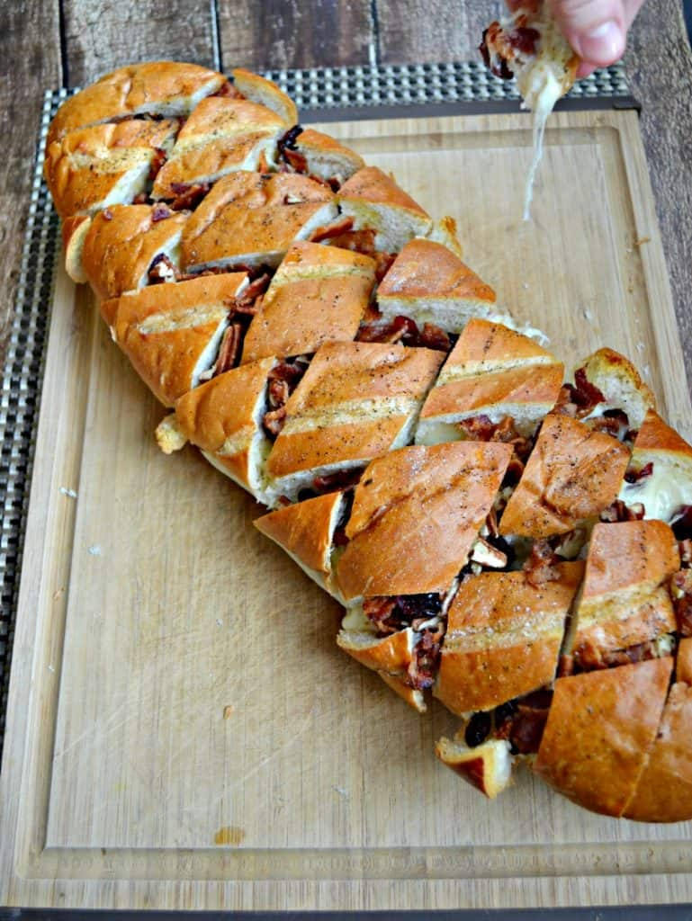 I can't get enough of this Baked Brie, Bacon, and Cranberry Pull Apart Bread with Pecans