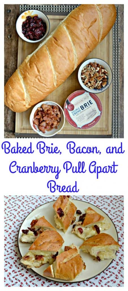 Need a fast but fancy holiday appetizer? Try this Bake Brie with Bacon, Pecans, and Cranberries!
