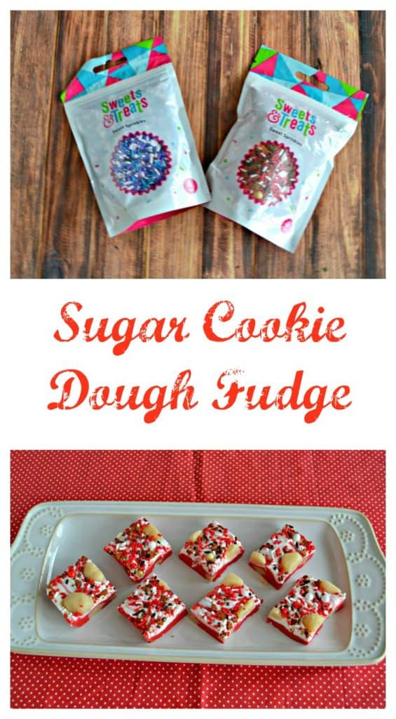 Love this awesome Sugar Cookie Dough Fudge