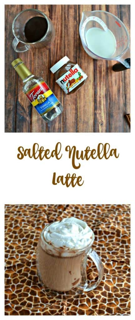 Everything you need to make a Salted Nutella Latte