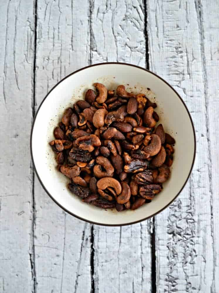 Smoked Savory Nuts are a delicious holiday appetizer