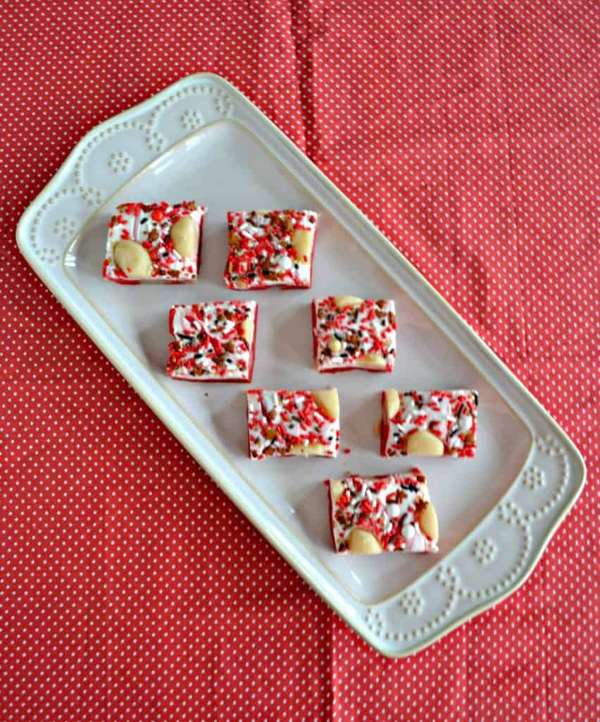 Looking for a holiday dessert? Check out this tasty Sugar Cookie Dough Fudge