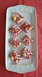 White Christmas Sugar Cookie Dough Fudge #ChristmasSweetsWeek