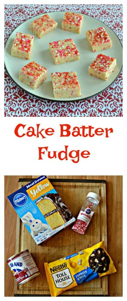 Everything you need to make Cake Batter Fudge