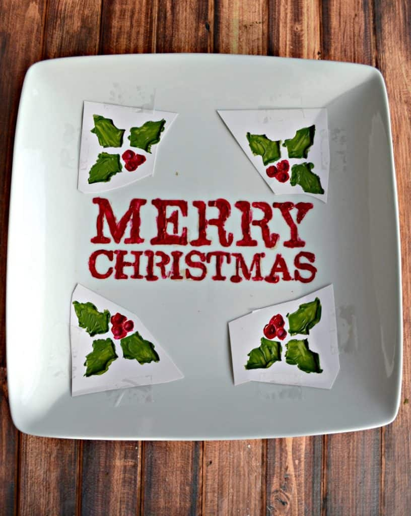 Looking for the perfect holiday gift? Make this fabulous DIY Christmas Cookie Plate