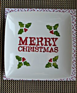 How fun is this DIY Christmas Cookie Plate?