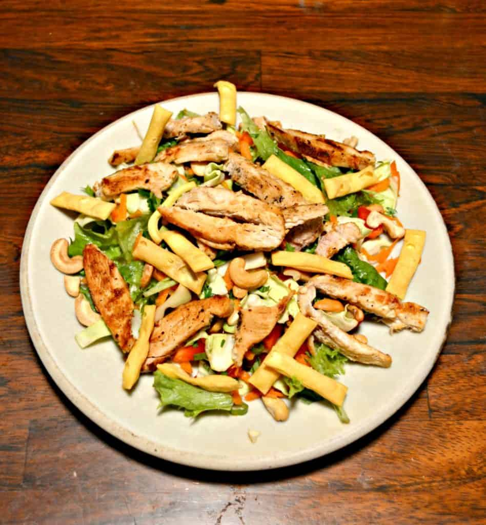 Thai Chicken Salad with homemade Lime Ginger Dressing