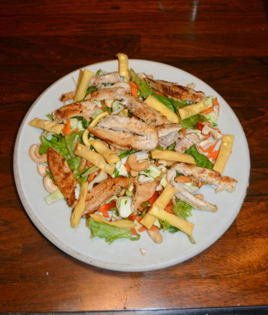 Thai Chicken Salad with Lime Ginger Dressing
