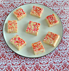 Cake Batter Fudge for Valentine's Day
