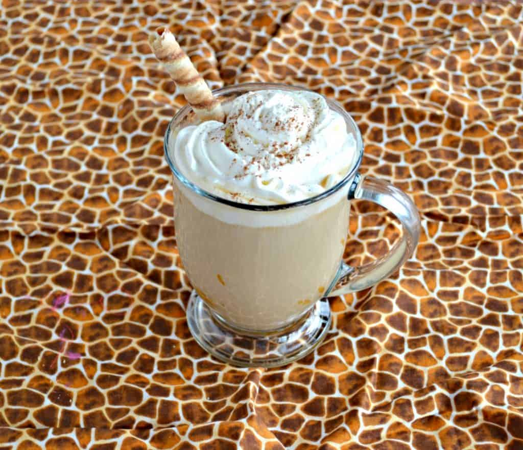 Warm up with this incredible Cinnamon Cookie Butter Latte