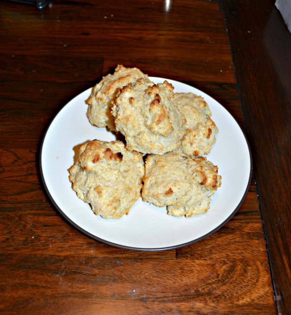 Need a quick and easy bread recipe? Make these no cut out biscuits!