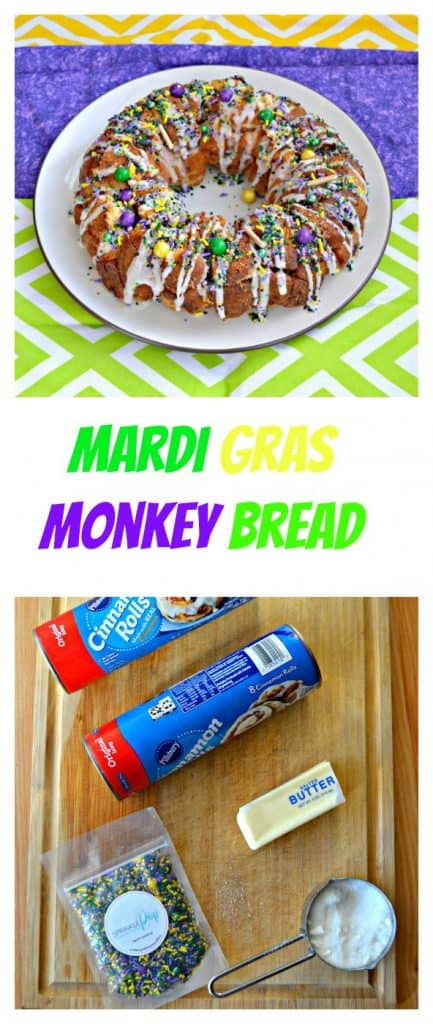 It only takes a handful of ingredients to make Mardi Gras Monkey Bread!
