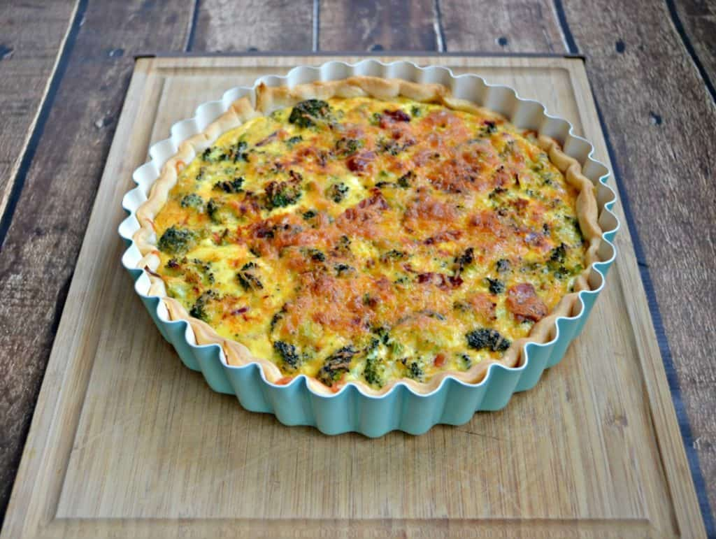 Broccoli and Cheddar Quiche is great as a brunch entree or even for dinner!