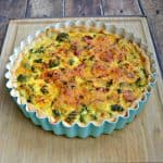 Looking for a quick and tasty weeknight meal? Give this Broccoli and Cheddar Quiche a try!