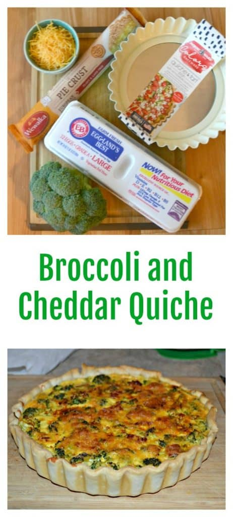 There's only a handful of ingredientss in this tasty Broccoli and Cheddar Quiche.