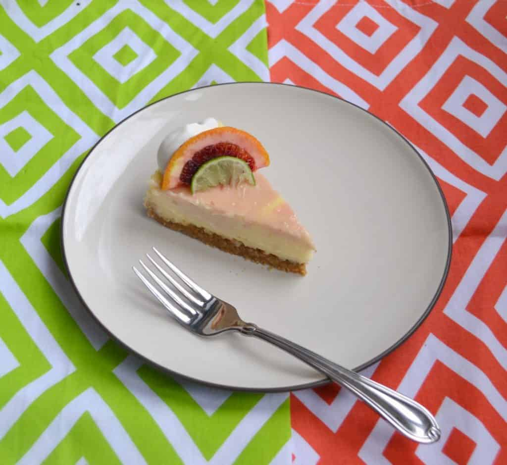 With blood oranges and key limes you'll love this Blood Orange Margarita Cheesecake!
