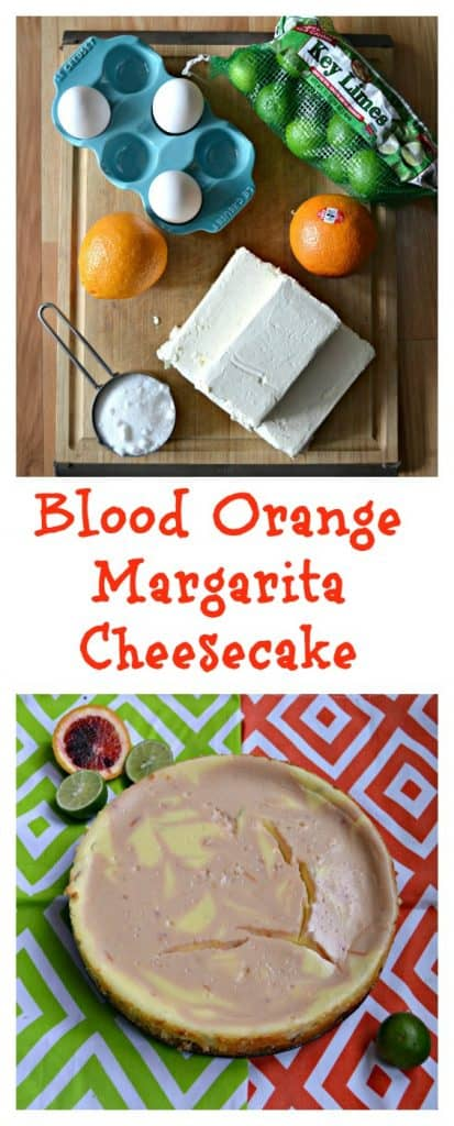Everything you need to make a Blood Orange Margarita Cheesecake